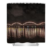 Bridge Lights Shower Curtain