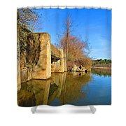 Concrete Trestle Bridge Shower Curtain