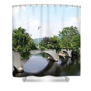 Bridge Of Flowers Shower Curtain