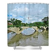 Bridge Of Flowers Scene Shower Curtain