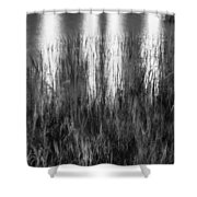 Bridge Of Lions Reflections St Augustine Florida Painted Bw   Shower Curtain
