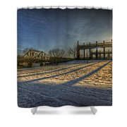 Bridge Of Spy's Sunset. Shower Curtain