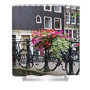 Bridge Over Canal In Amsterdam Shower Curtain