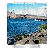 Bridge Over Columbia River At Umatilla-or  Shower Curtain