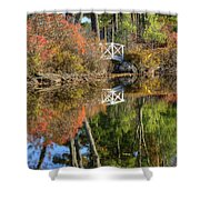 Bridge Over Fall Waters Shower Curtain