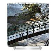 Bridge Over Frozen River Shower Curtain