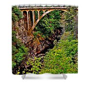 Bridge Over North Harbour River-nl Shower Curtain