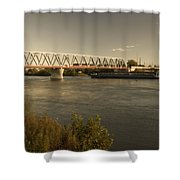 Bridge Over Rhein River Shower Curtain