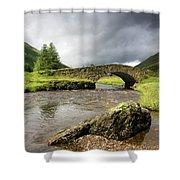 Bridge Over River, Scotland Shower Curtain