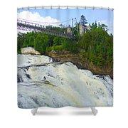 Bridge Over Rushing Water Shower Curtain