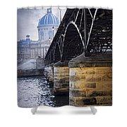 Bridge Over Seine In Paris Shower Curtain