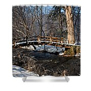 Bridge Over Snowy Valley Creek Shower Curtain