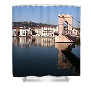 Bridge Over The Rhone River Shower Curtain