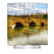 Bridge Over The River Wye Shower Curtain
