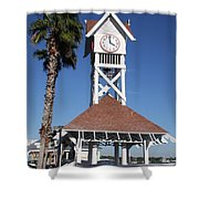 Bridge Street Pier And Clocktower  Shower Curtain