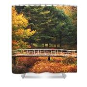 Bridge To Autumn Shower Curtain