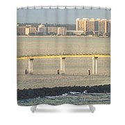 Bridge To Crystal Cay Shower Curtain