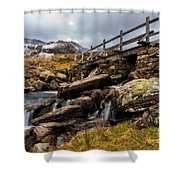 Bridge To Idwal Shower Curtain