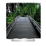 Bridge To Japanese Serenity Shower Curtain