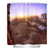 Bridge To The 21st Century - Clinton Presidential Library - Arkansas - Little Rock Shower Curtain