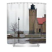 Bridge To The Left Shower Curtain