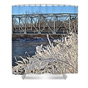 Bridge To Winter Shower Curtain