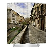 Bridges At Darro Street In Historic Albaycin In Granada Shower Curtain