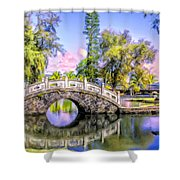 Bridges At Liliuokalani Park Hilo Shower Curtain