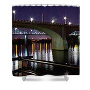 Bridges At Night Shower Curtain