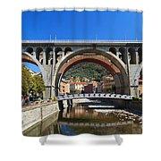 bridges in Sori Shower Curtain