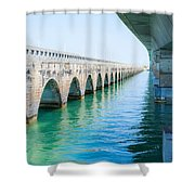 Bridges New And Old Shower Curtain