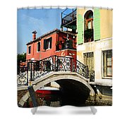 Bridges Of Venice Shower Curtain
