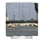 Bridges Over The Seine And Conciergerie - Paris Shower Curtain