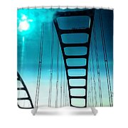 Bridges To Heaven Shower Curtain