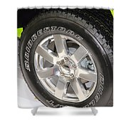 Bridgestone Tire Shower Curtain