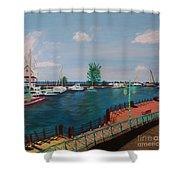 Bridgetown Boardwalk Shower Curtain