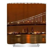 Bridging New Jersey And Pennsylvania Shower Curtain