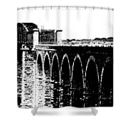 Bridging The Boyne Shower Curtain