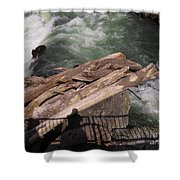 Bridging The Chasm 01 Shower Curtain