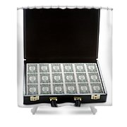 Briefcase Full Of Money Shower Curtain