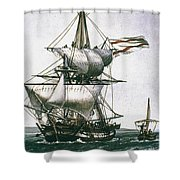 Brig, C1800 Shower Curtain