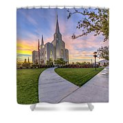 Brigham City Sunset Shower Curtain