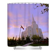 Brigham City Temple I Shower Curtain