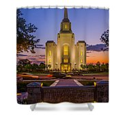 Brigham City Temple Moon N Stars Shower Curtain