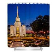 Brigham City Temple Twilight 1 Shower Curtain