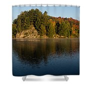 Bright And Sunny Autumn Reflections Shower Curtain