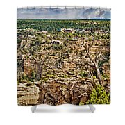 Bright Angel And El Tovar Hotel South Rim Shower Curtain