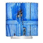 Bright Blue Door Shower Curtain