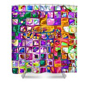 Bright Boxes I Shower Curtain