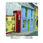 Bright Buildings In Ireland Shower Curtain